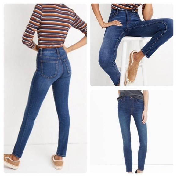 "Madewell Denim - Madewell 10"" High Rise Skinny Jeans"